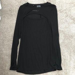 Black Gymshark Cut Out Long Sleeve - Medium